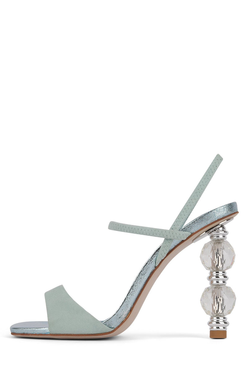 GEMA-2 Heeled Sandal STRATEGY Mint Metallic Suede Combo 6
