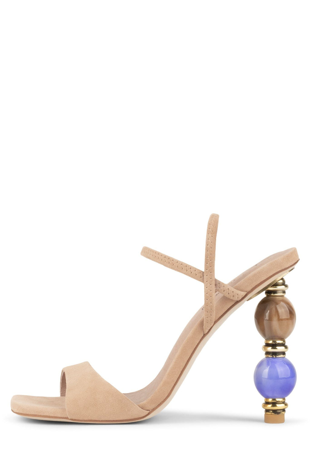 GEMA Heeled Sandal Jeffrey Campbell Natural Suede Blue 6