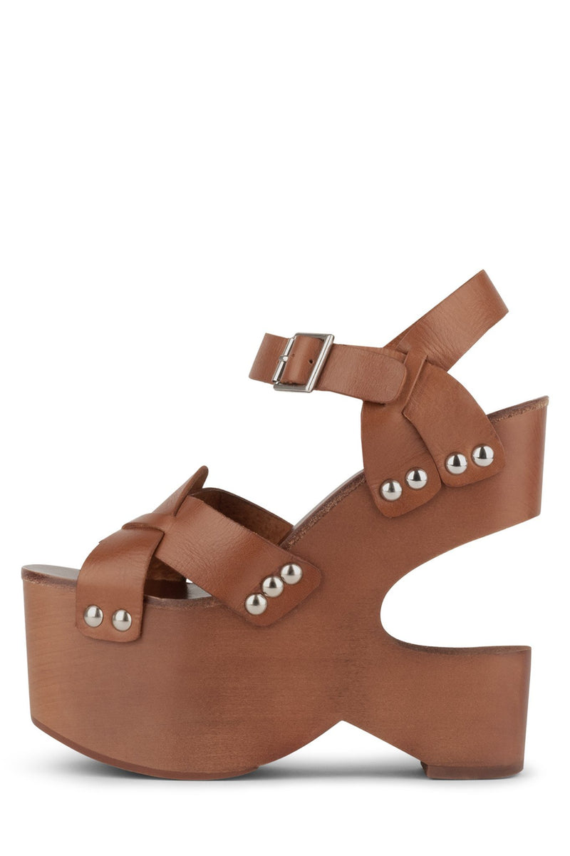 GET-DOWN Wedge Sandal HS Tan 6