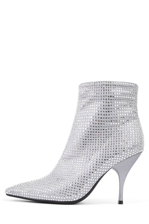 GLAMMED Heeled Bootie ST Grey Satin Combo 6
