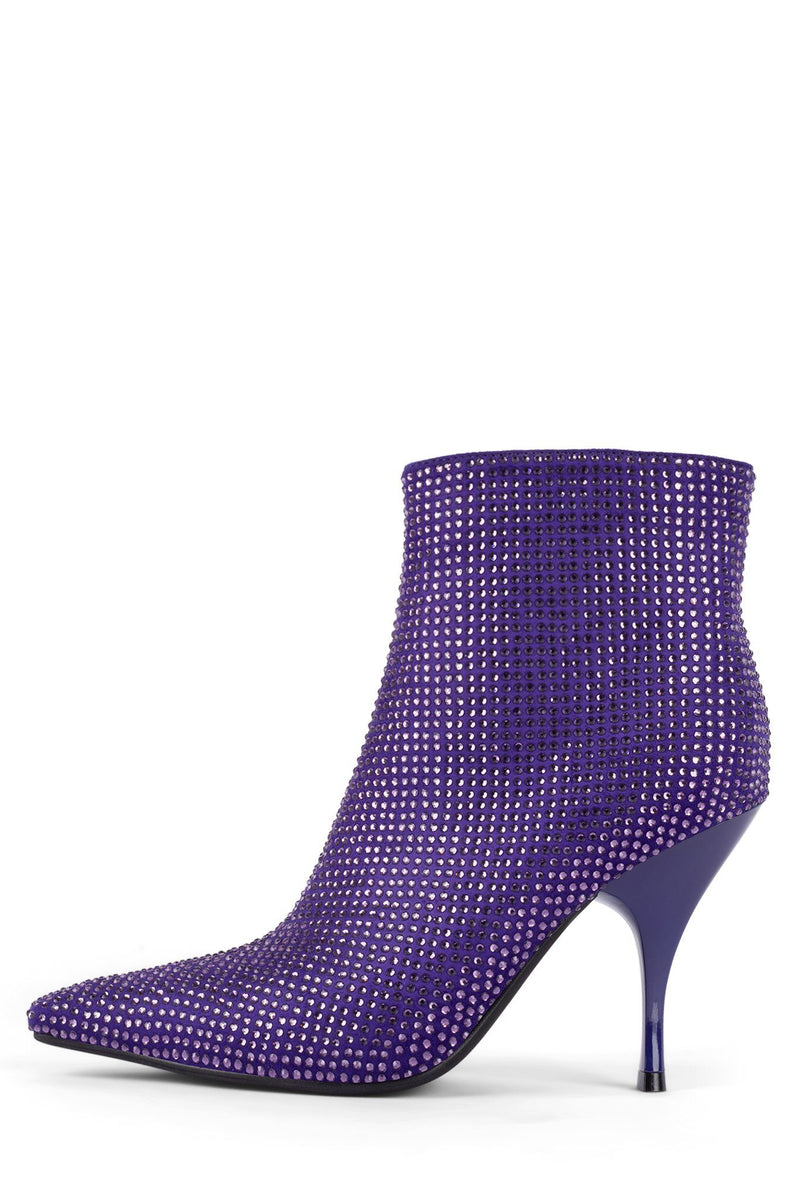 GLAMMED Heeled Bootie ST Purple Satin Purple 6