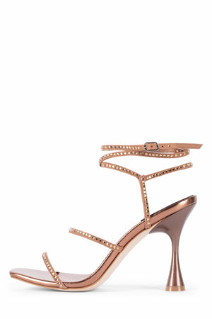 GLAMOROUS Heeled Sandal STRATEGY Rose Gold Combo 6