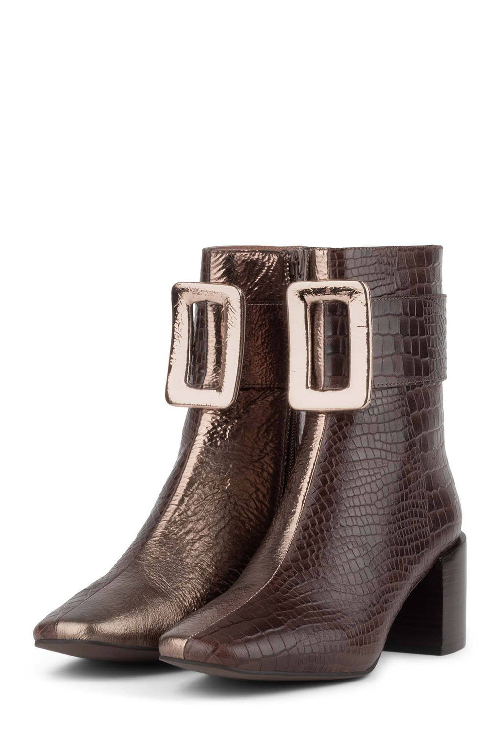 GODARD Heeled Boot YYH Brown Croco Bronze 6