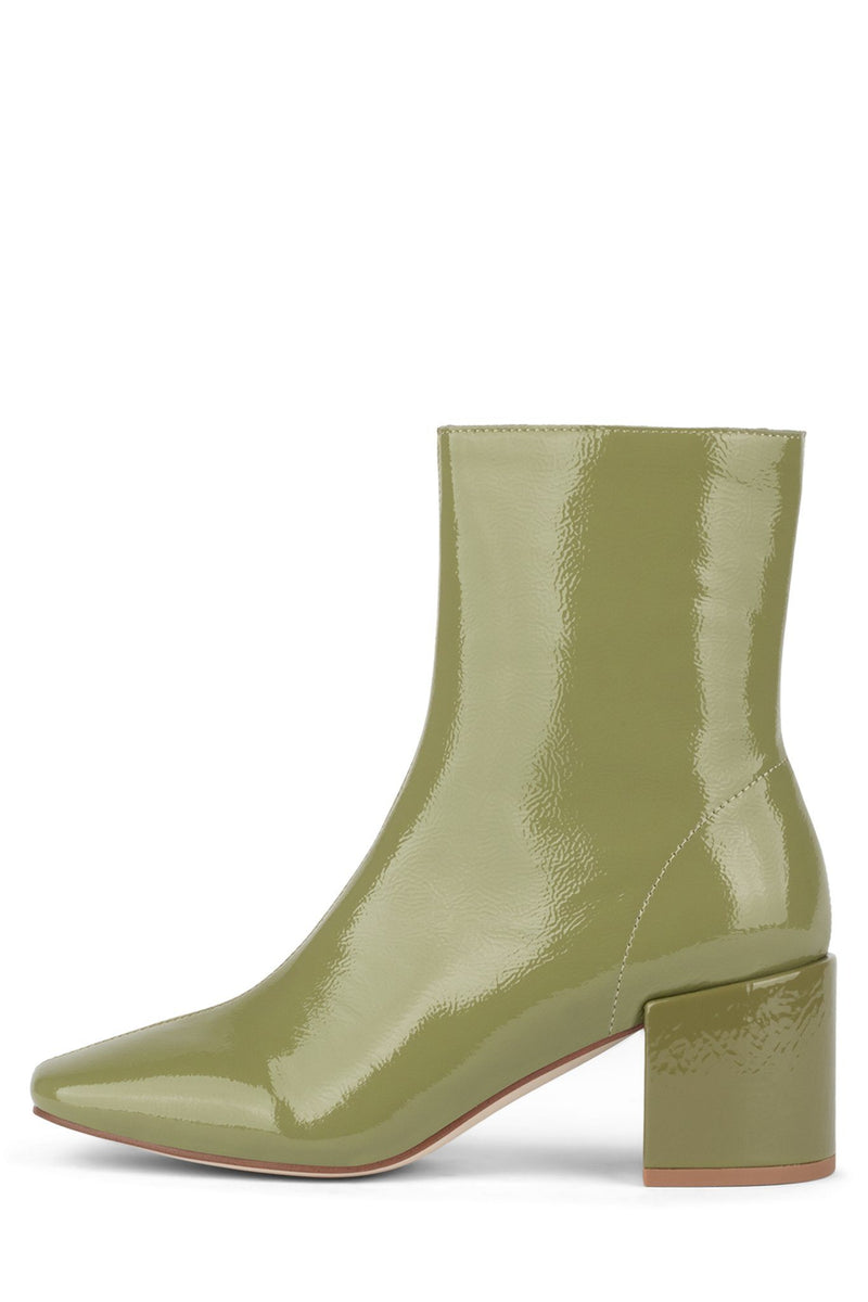 GODARD-NB Heeled Bootie YYH Dusty Green Pat 6