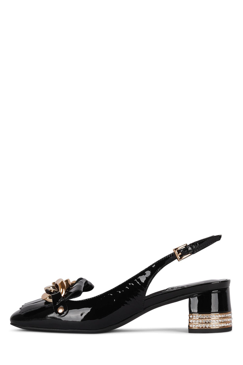 GOLIAH-JH Pump Jeffrey Campbell Black Patent Gold 6