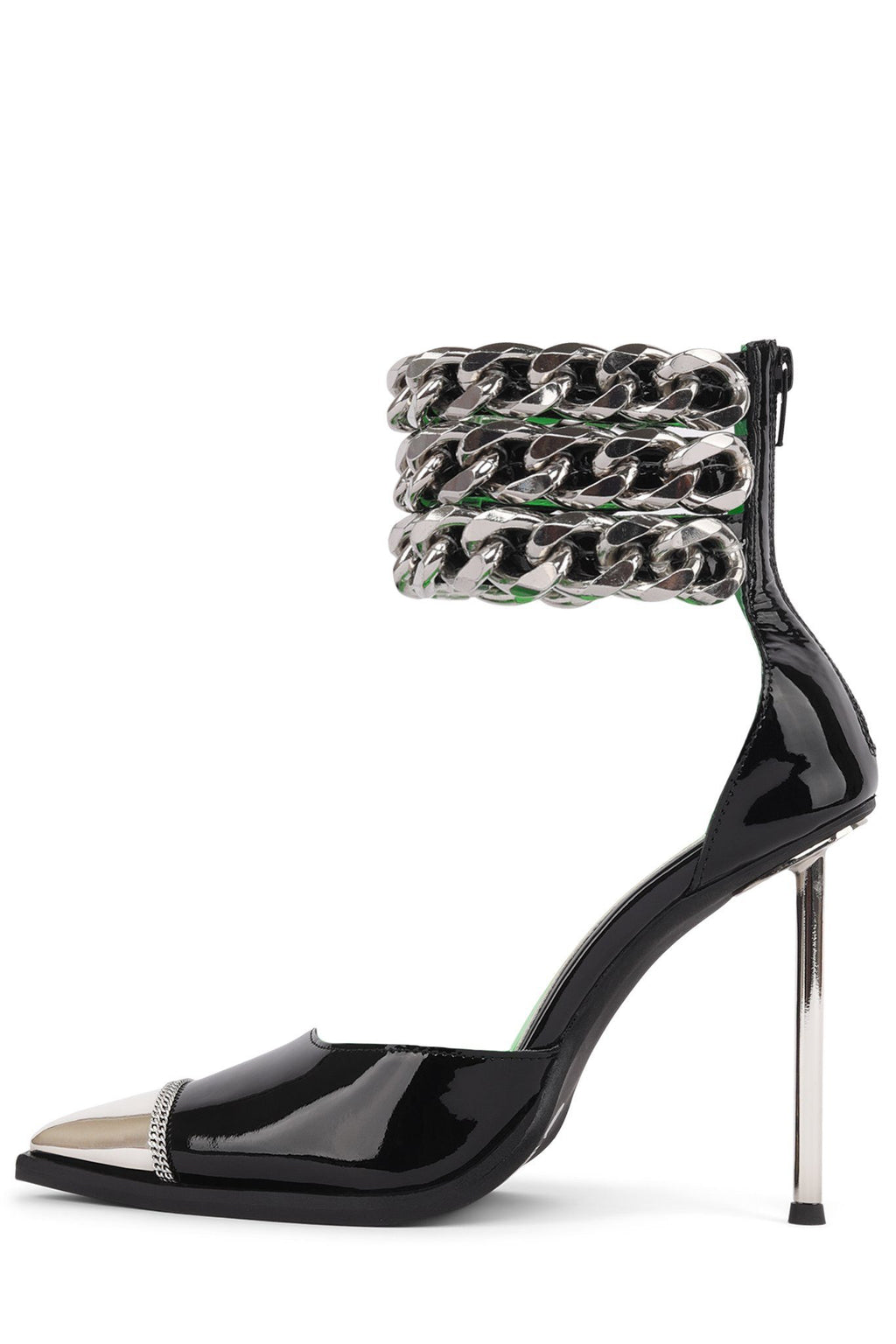 GOVERNER-C Pump YYH Black Patent Silver 6