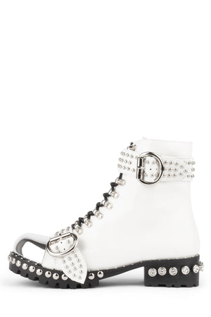 GUSTINE Boot HS White Box Silver 6