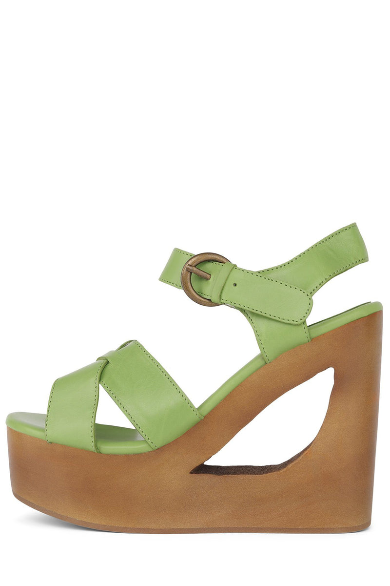 HENDRIXX Wedge Sandal HS Green 6