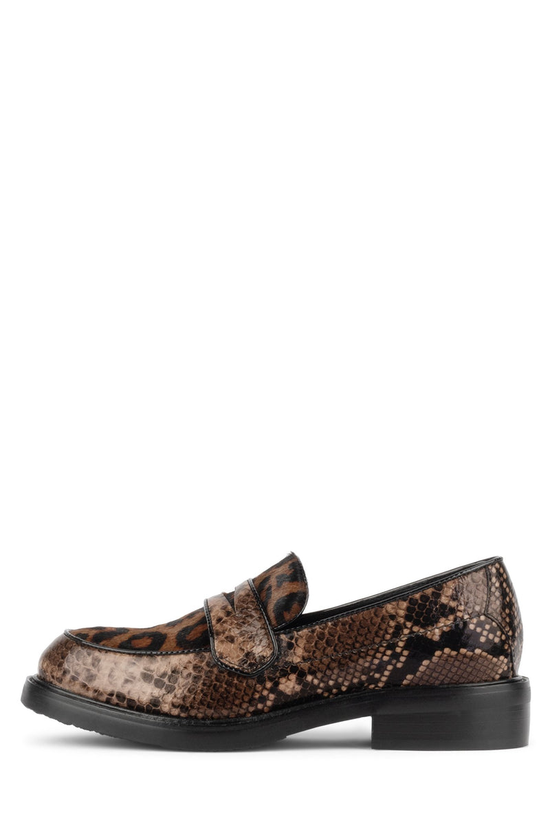 HENDRY-F Loafer YYH Brown Snake Brown Cheetah 6
