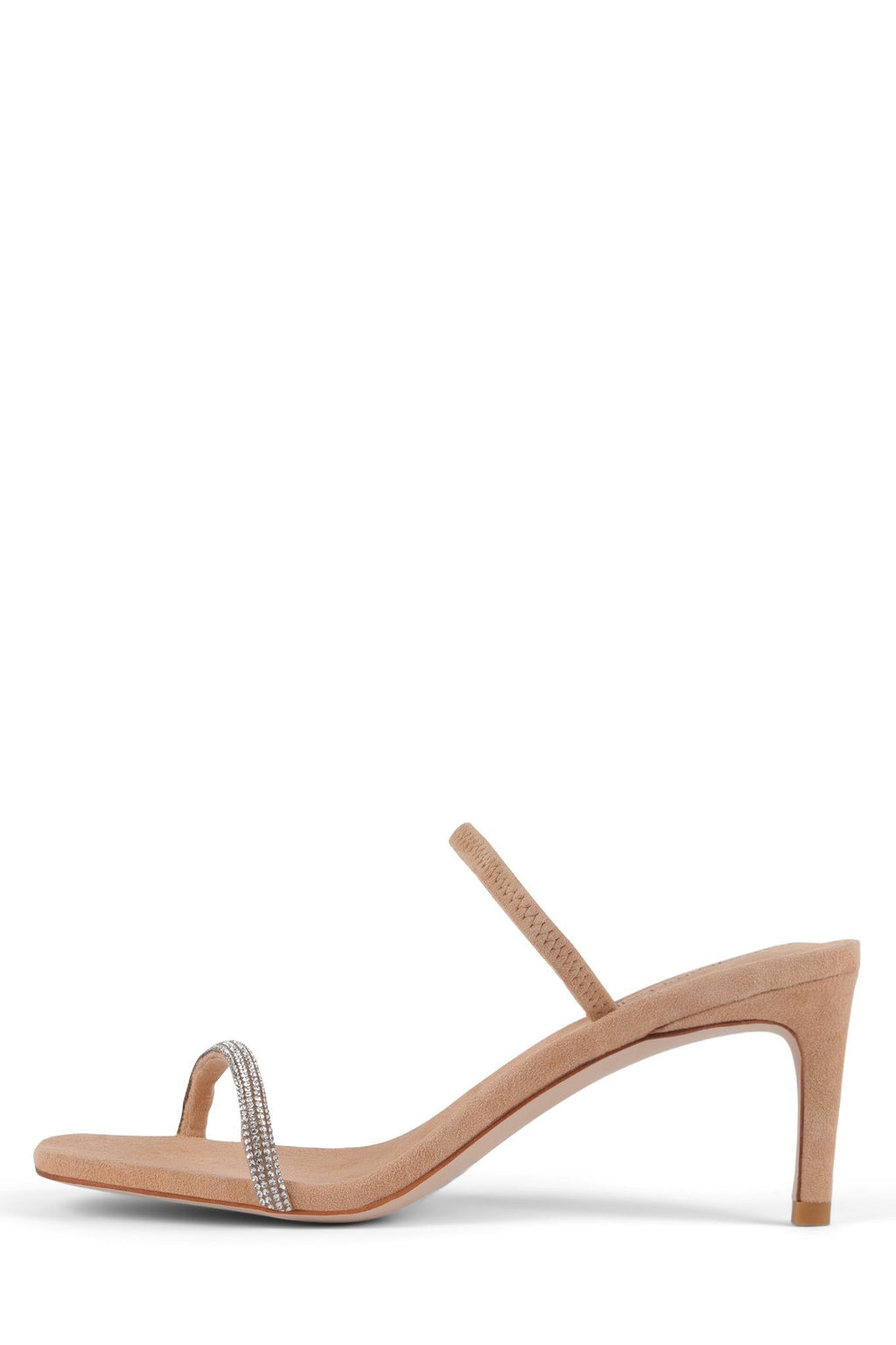 HERA-HJS Heeled Sandal Jeffrey Campbell Nude Suede Champagne 6