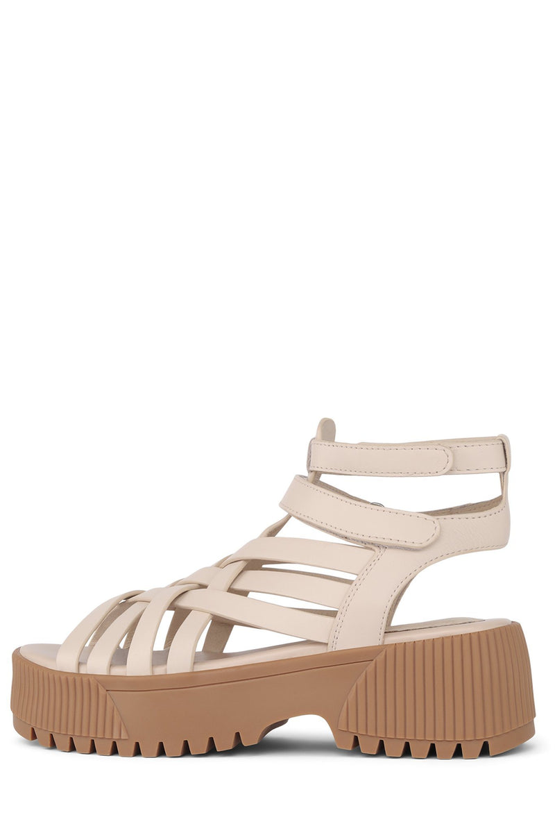 HERON Platform Sandal ST Natural Honey 6
