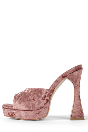 HOLLYWOOD STRATEGY Pink Crushed Velvet 6.5