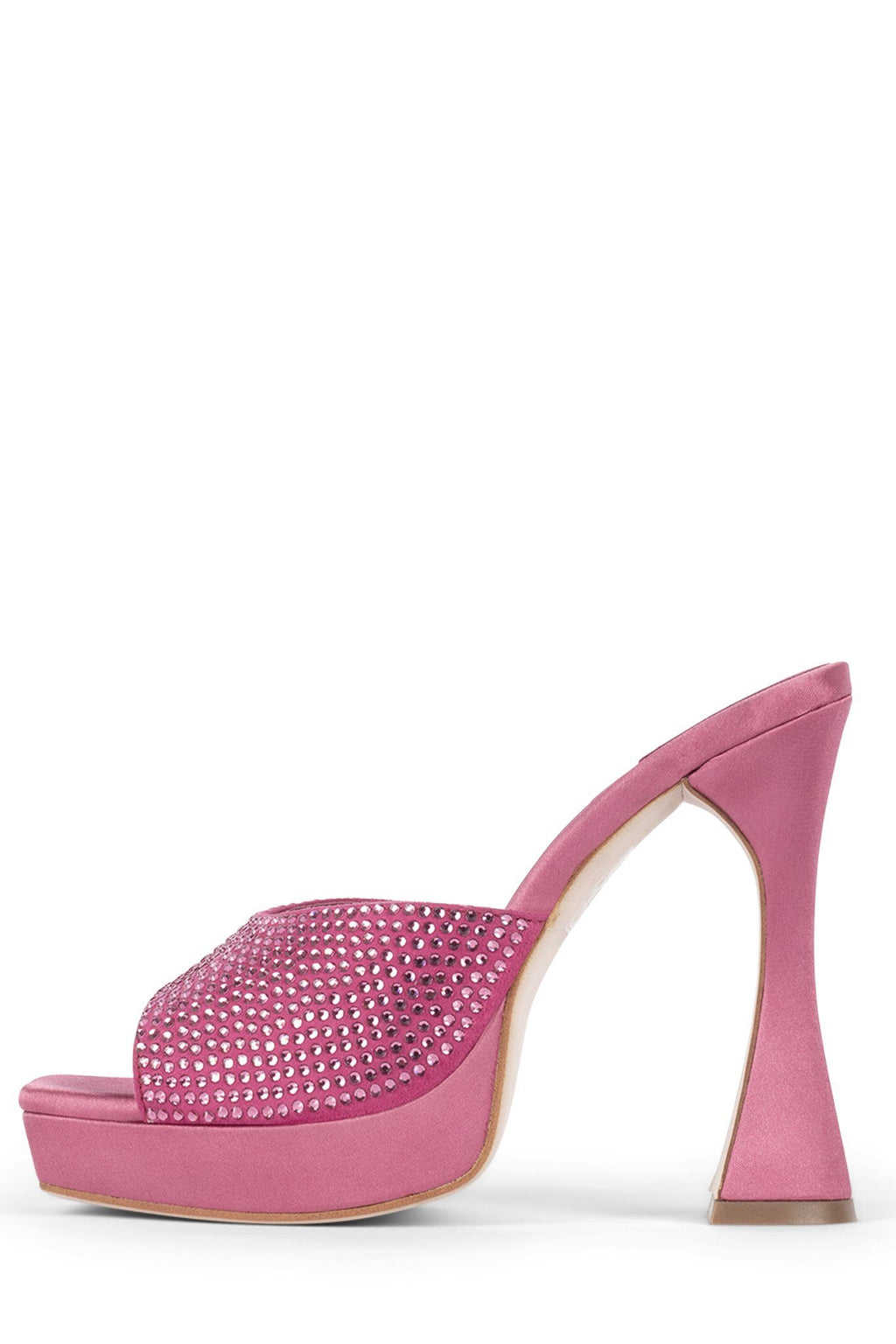 HOLLYWOODJ Heeled Mule Jeffrey Campbell Hot Pink Satin Pink 5