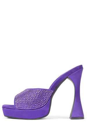 HOLLYWOODJ Heeled Mule Jeffrey Campbell Purple Satin Purple 6