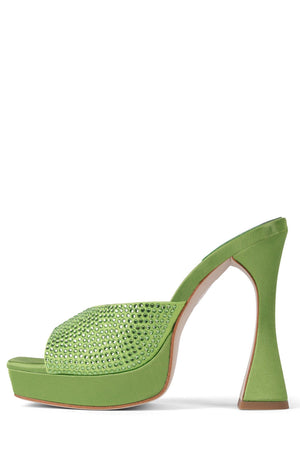 HOLLYWOODJ Jeffrey Campbell Green Satin Green 6