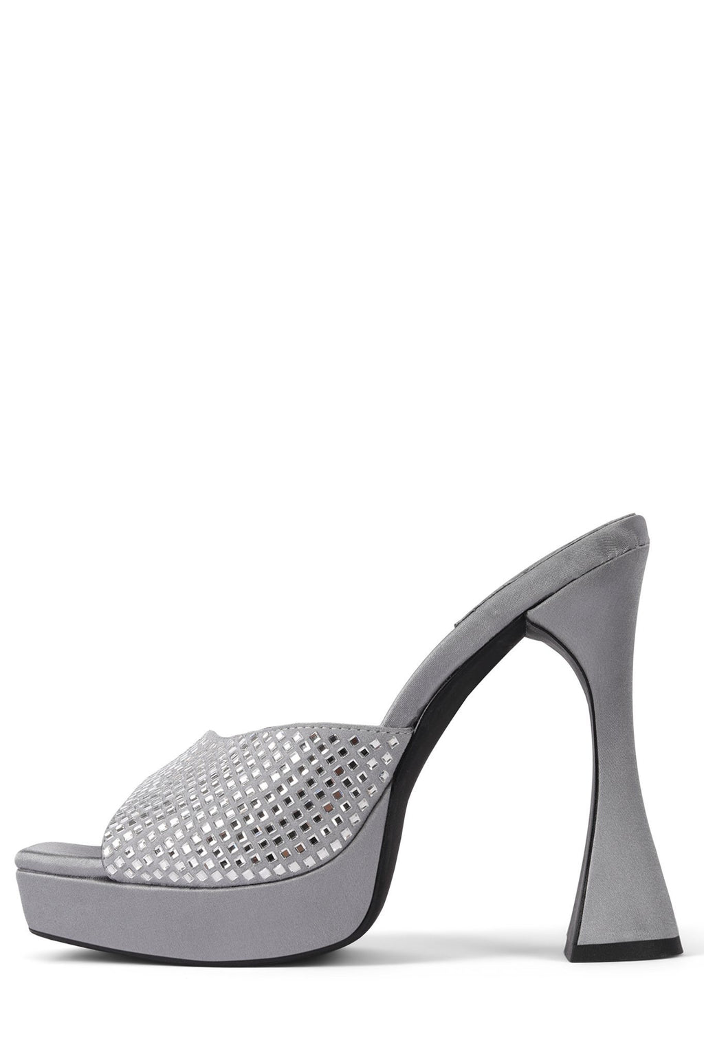 HOLLYWOODJ Jeffrey Campbell Grey Satin Silver 6