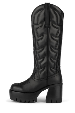 HONKY-TONK Knee-High Boot Jeffrey Campbell Black 6