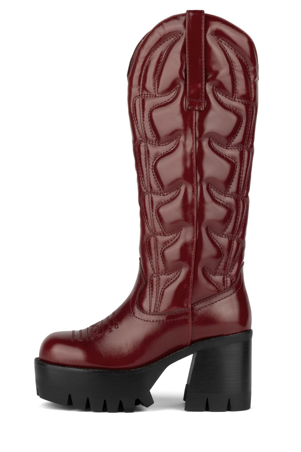 HONKY-TONK Knee-High Boot Jeffrey Campbell Red 6