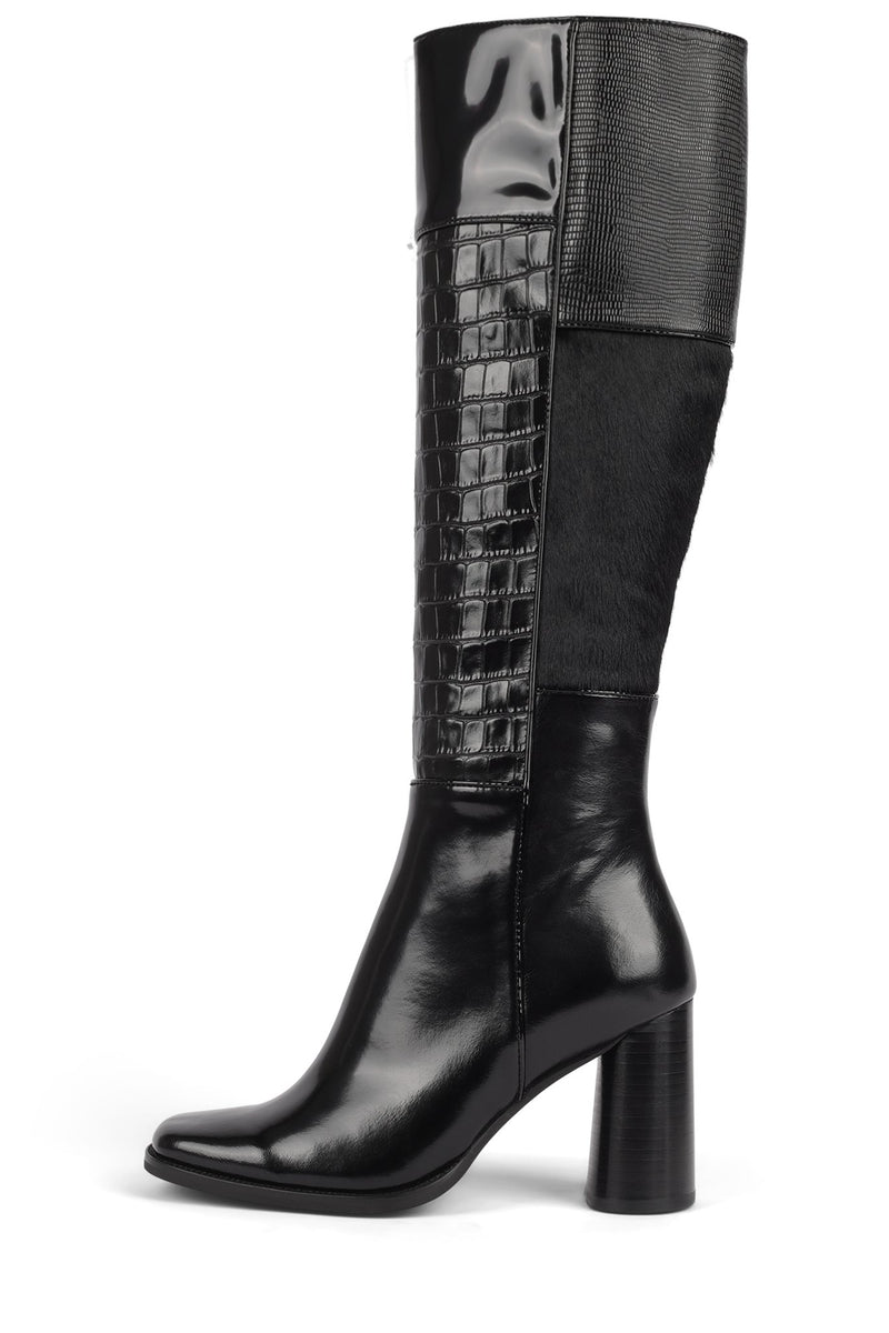 HUNTED-F Knee-High Boot STRATEGY Black Combo 6