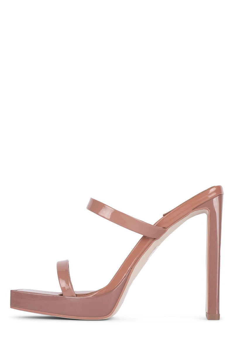HUSTLER Heeled Sandal YYH Dusty Blush Patent 5.5