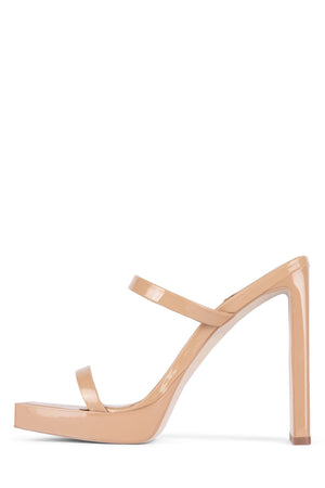 HUSTLER Heeled Sandal YYH Dusty Nude Patent 5.5