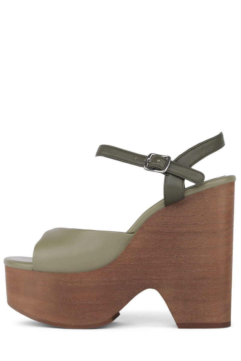 JACY-2 Wedge Sandal HS Green Combo 6