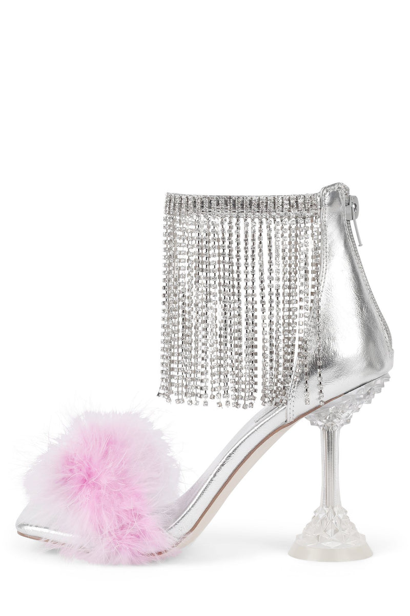 JAIMIE Heeled Sandal STRATEGY Lilac Silver Clear 6