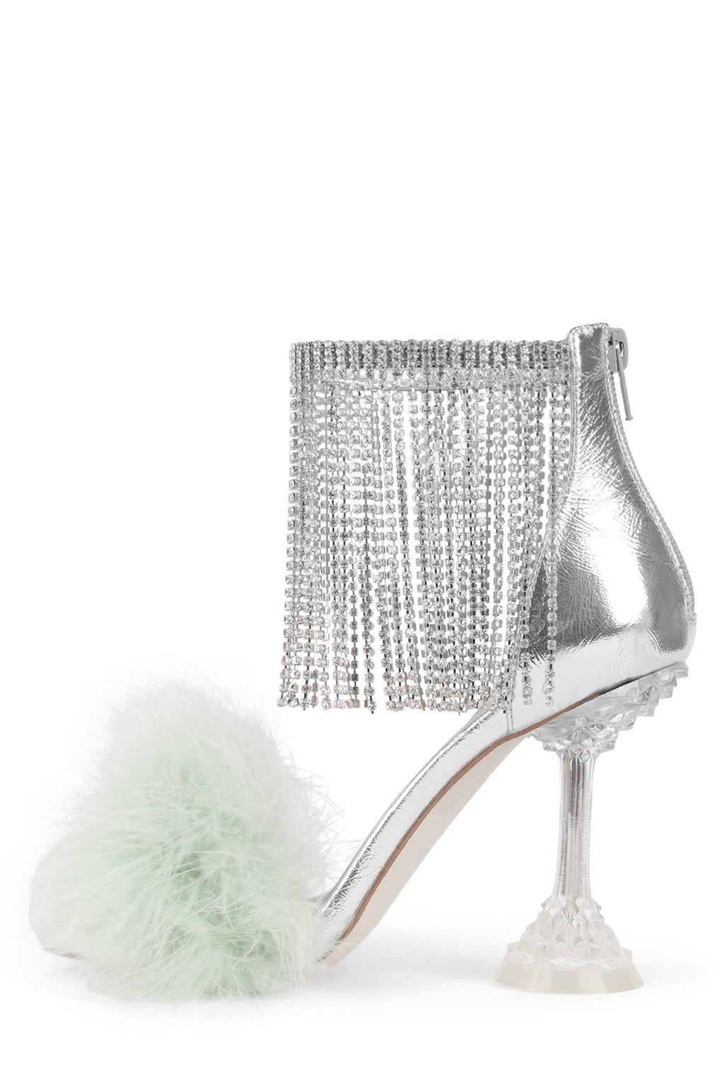 JAIMIE Heeled Sandal STRATEGY Mint Silver Clear 6