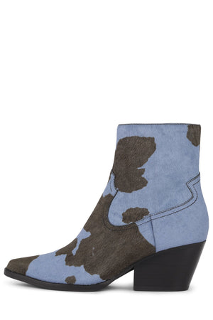 KELAM-2F Bootie Jeffrey Campbell Black Blue Cow 6