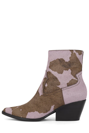 KELAM-2F Bootie Jeffrey Campbell Lilac Brown Cow 6
