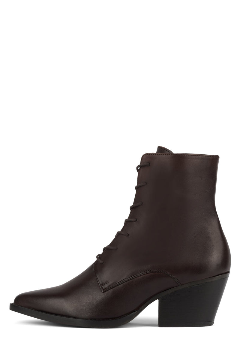 KELAM-LU Heeled Bootie Jeffrey Campbell Brown 6