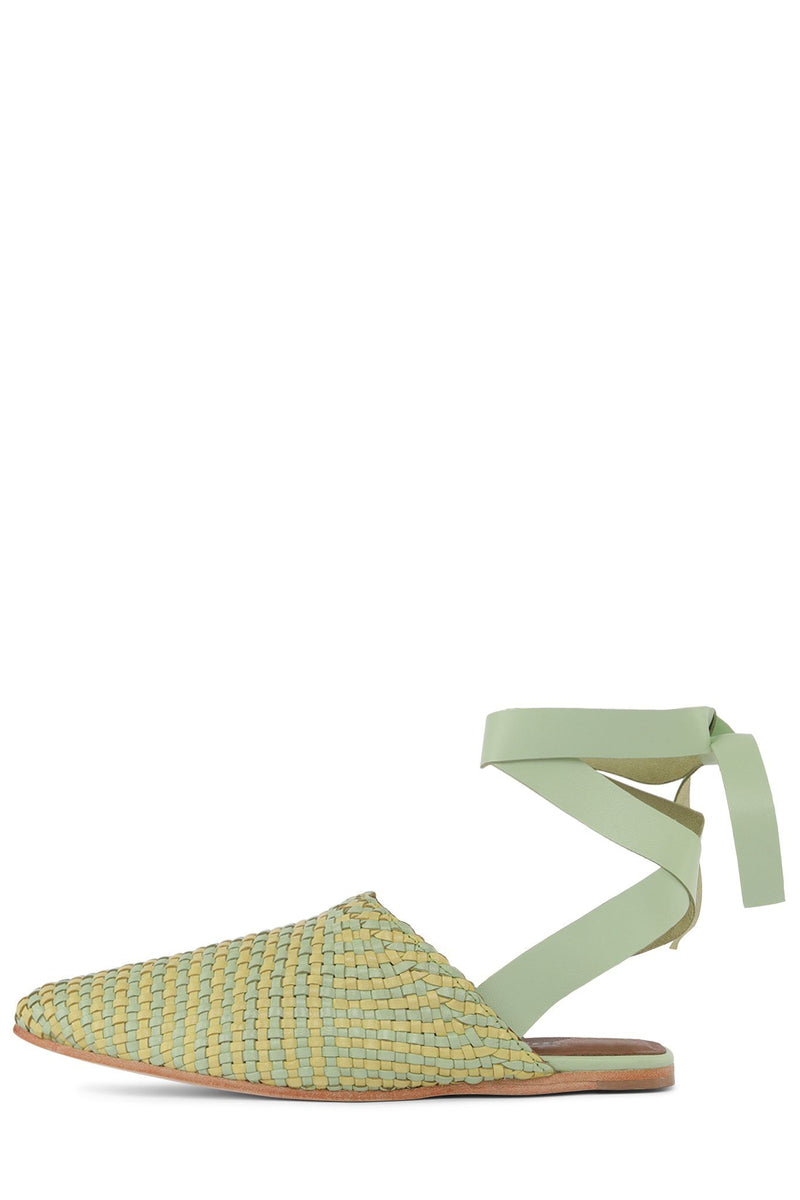 KHALEESI Flat Sandal Jeffrey Campbell Mint Yellow 6