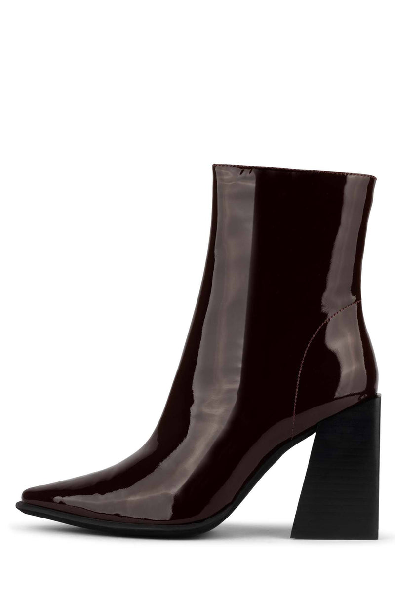 LA-SIREN Heeled Bootie ST Brown Patent 6