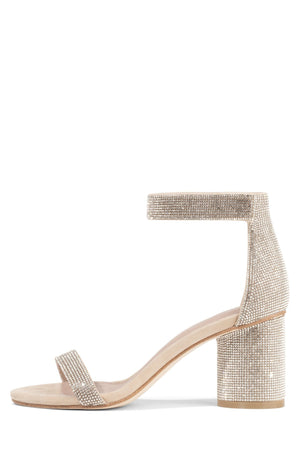 LAURA-JS Heeled Sandal Jeffrey Campbell Nude Suede Champagne 6