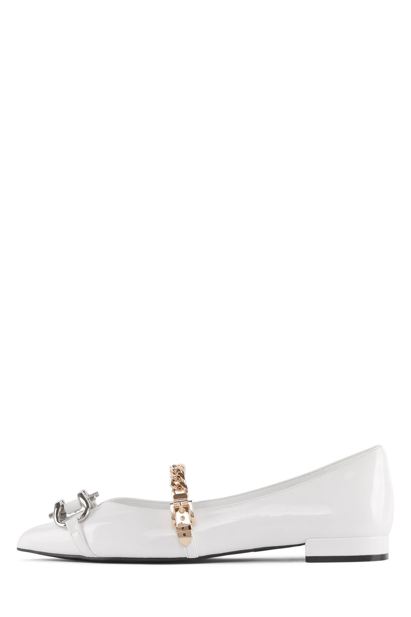 LAVINIA-BT Flat Jeffrey Campbell White Gold Silver 6
