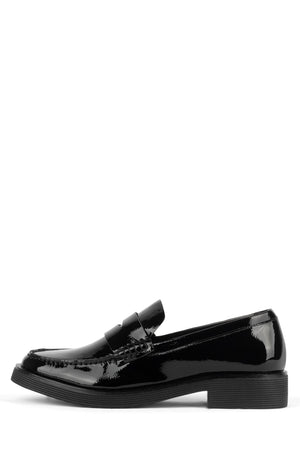 LENNA Loafer Jeffrey Campbell Black Crinkle Patent 6