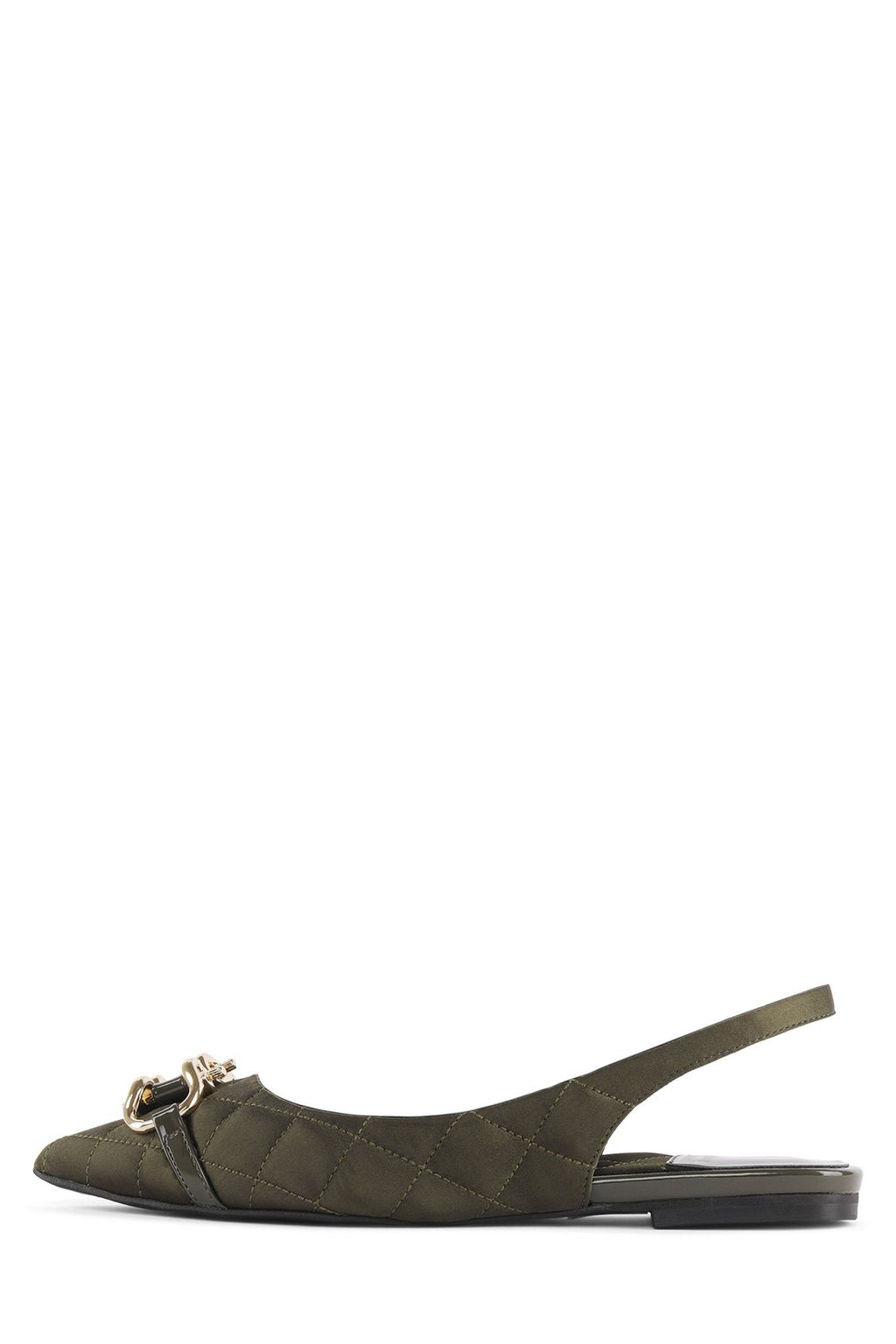 LENORA-2BT Flat Jeffrey Campbell Olive Satin Gold 6