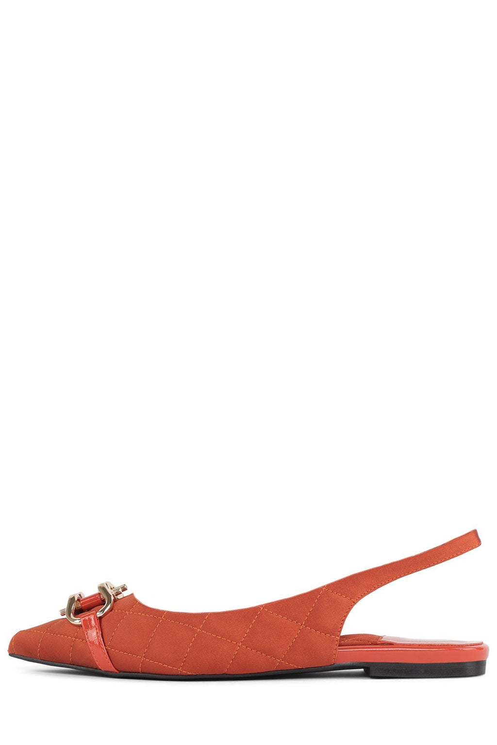 LENORA-QB Flat DV Orange Satin 6