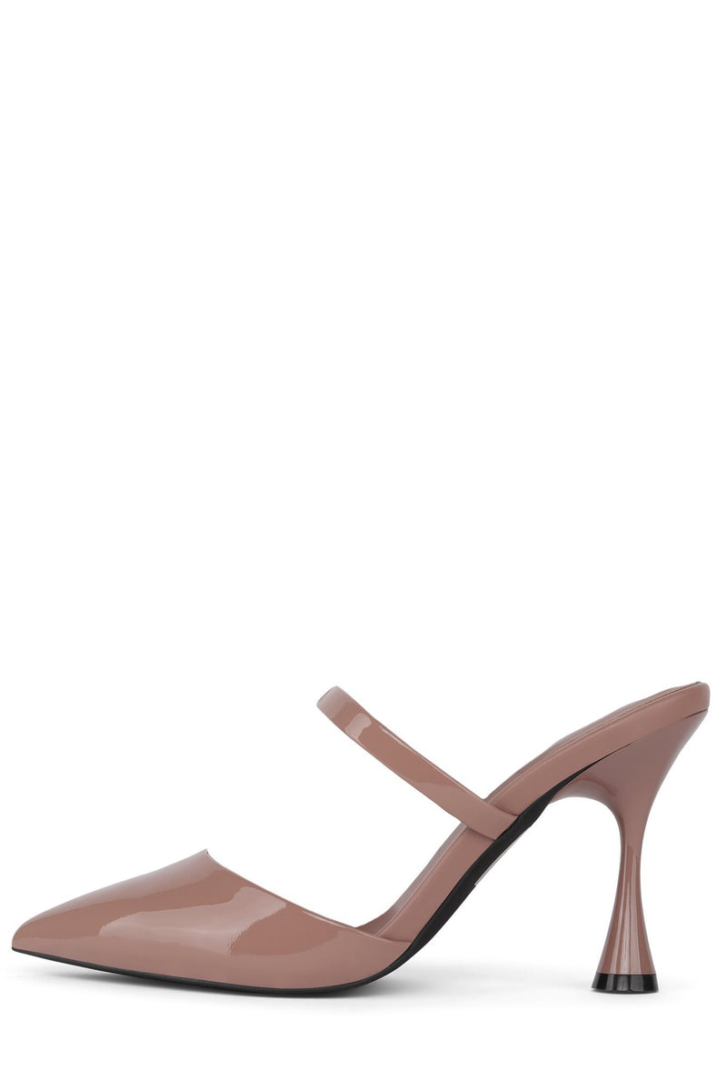 LILLIANA Heeled Mule Jeffrey Campbell Dark Rose Patent 6