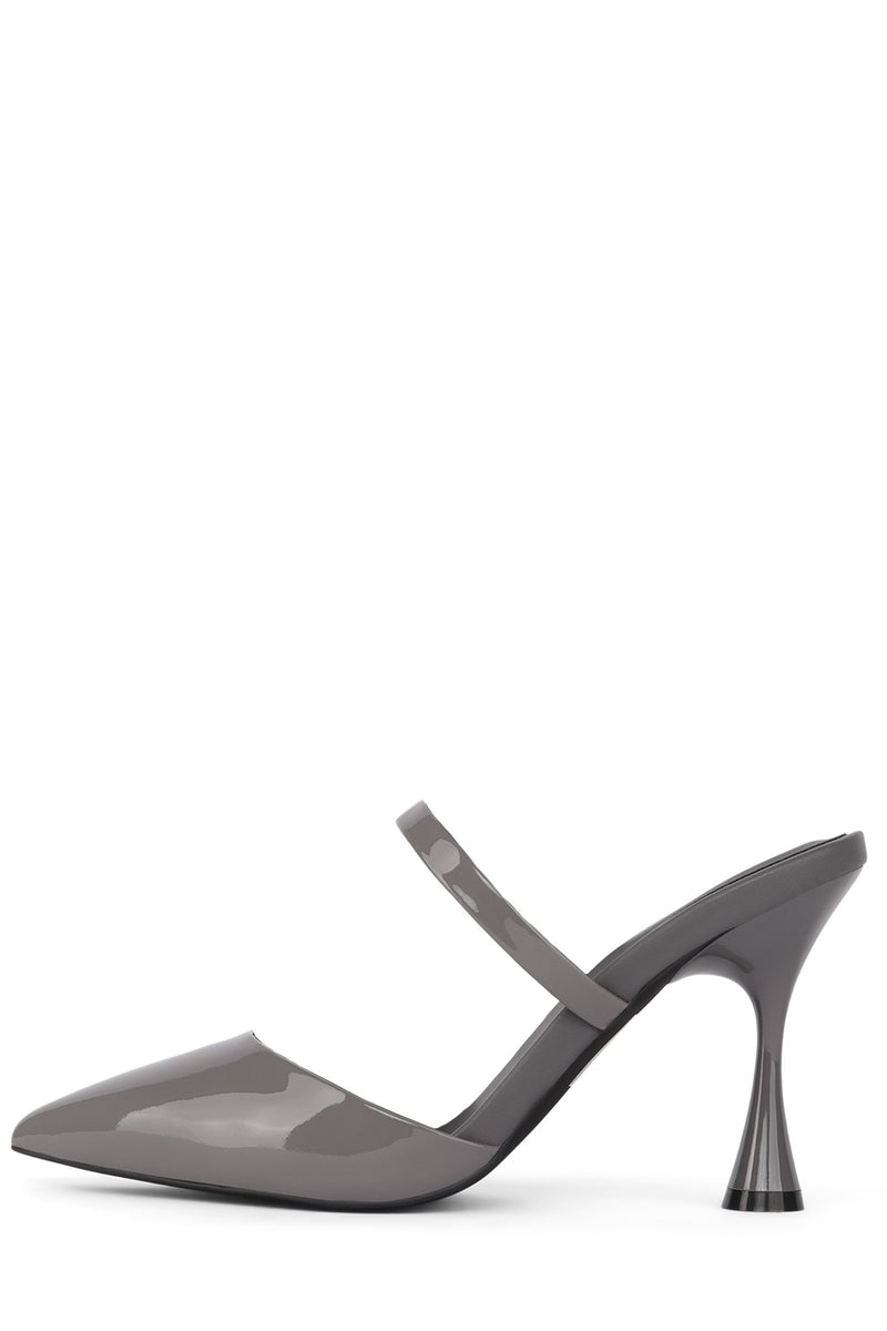 LILLIANA Heeled Mule Jeffrey Campbell Grey Patent 6