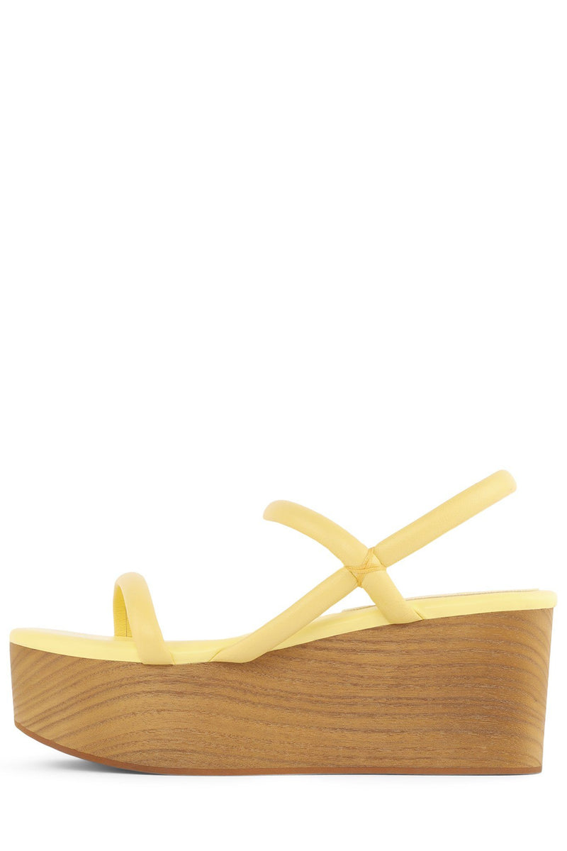 LINEAR Platform Sandal STRATEGY Yellow Pastel 6