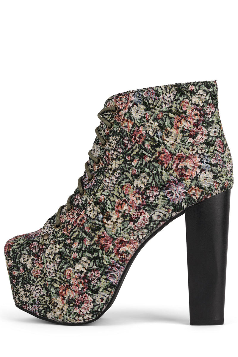 LITA Bootie YYH Multi Floral Tapestry 6