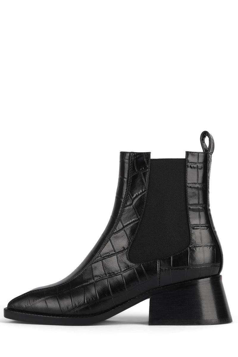 LLIAM Heeled Boot DV Black Croco 6