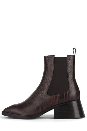 LLIAM Heeled Boot DV Brown Lizard 6