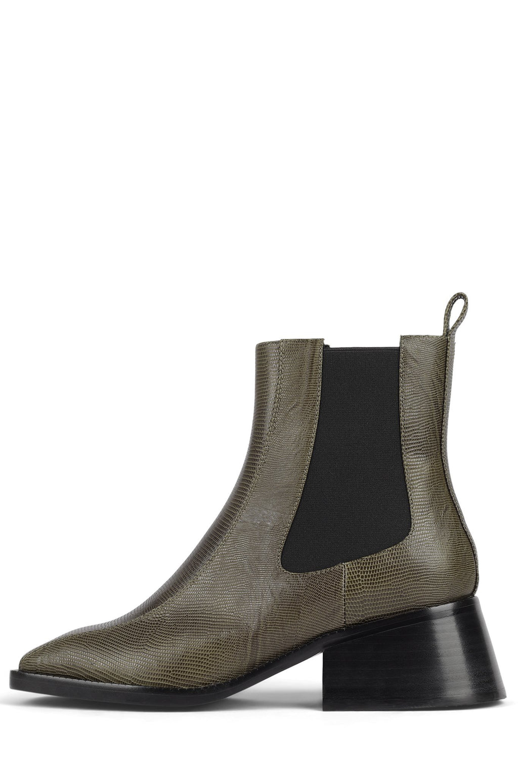 LLIAM Heeled Boot DV Khaki Lizard 6