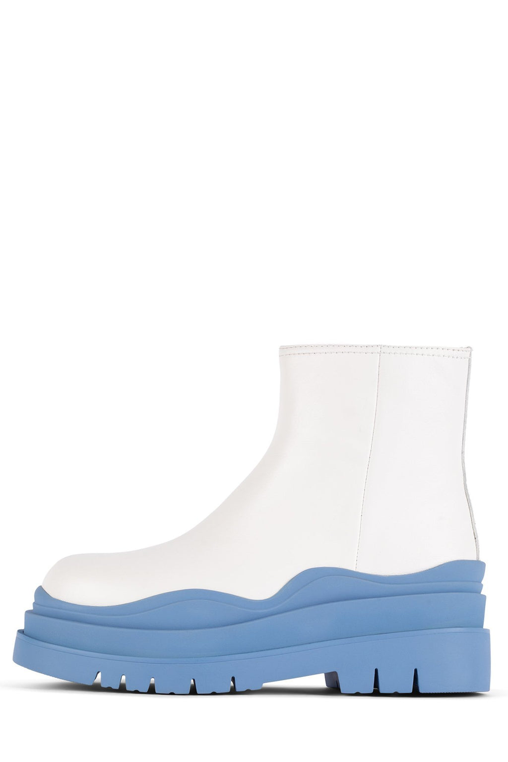 LOADING Bootie Jeffrey Campbell White Blue 6