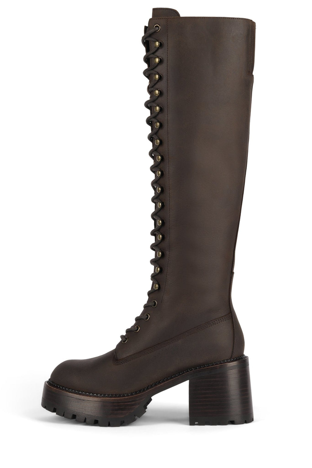 LOCUST-KH Knee-High Boot HS Dark Brown Crazy Horse 6