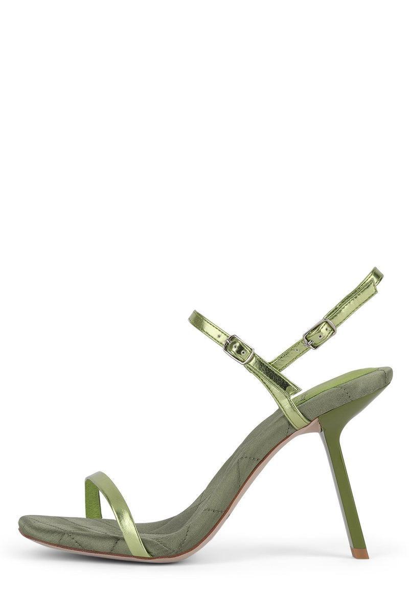 LOYAL Heeled Sandal ST Green Metallic Combo 6