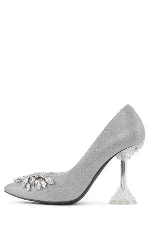 LURE-2JWL Pump Jeffrey Campbell Silver Glitter Silver 7
