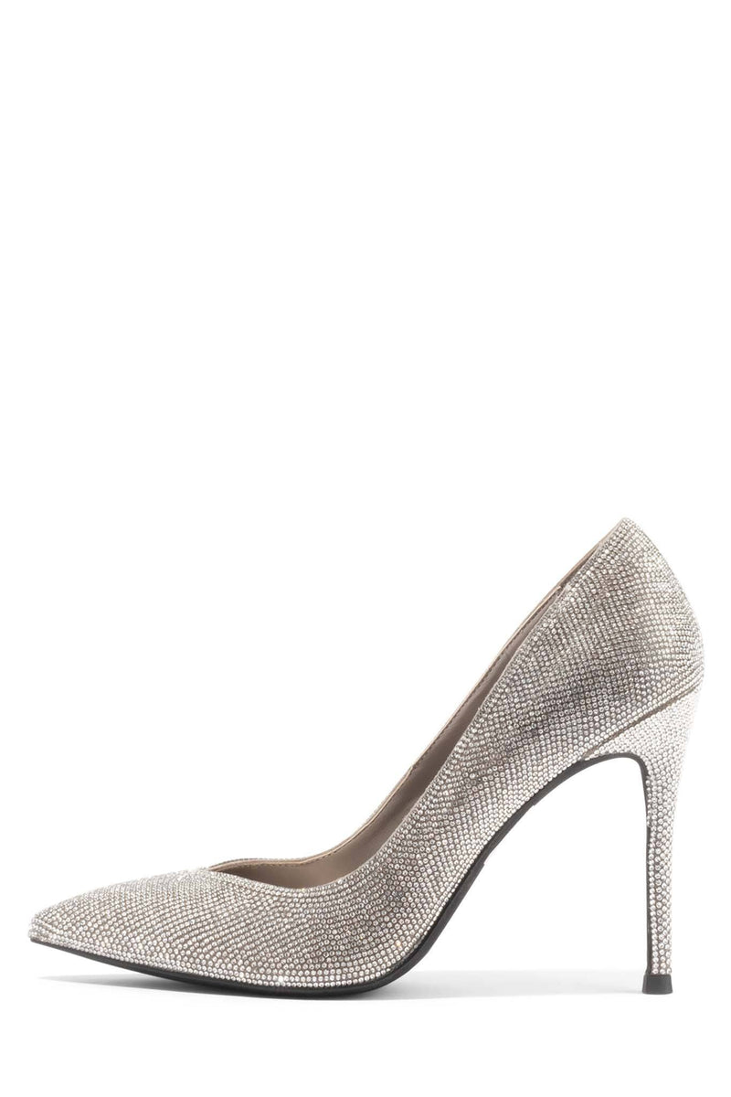 LURE-JS Pump ST Taupe Suede Silver 6